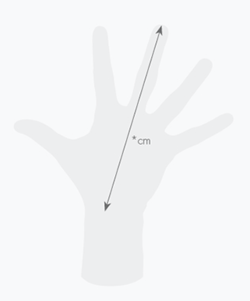 Como medir la mano